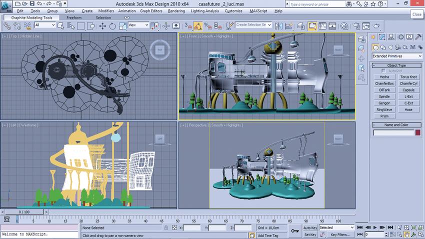 Interfaccia 3d Studio Home