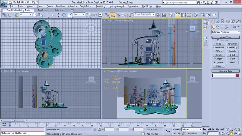 Interfaccia 3d Studio City